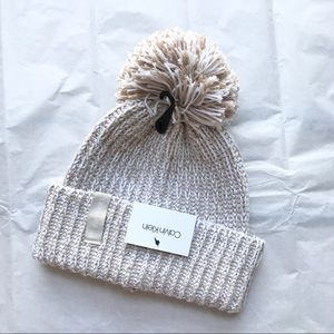Calvin Klein Knit Winter Hat with Pom Pom NWT